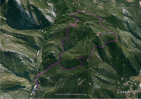 Map Mont Cruvelier