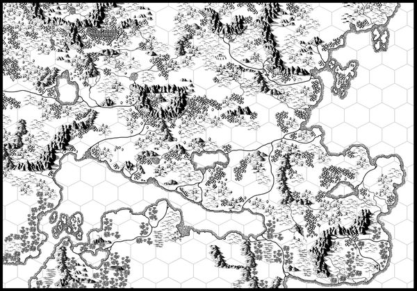 map with hex