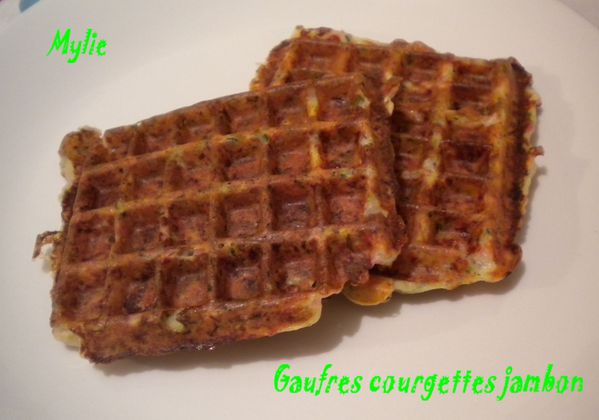 gaufres jambon courgettes 1
