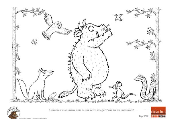 Free Coloring Pages Of La Gruffalo The Gruffalo Colouring Pages