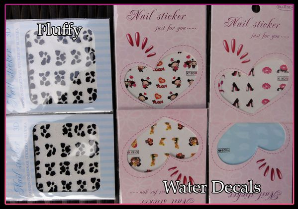 Stickers Fluffy + Water Decals