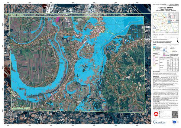 Copernicus - Inondations Serbie - Mai 2014- EMSR086 - Lazar