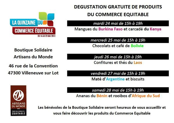 Dégustations Boutique Solidaire JPEG