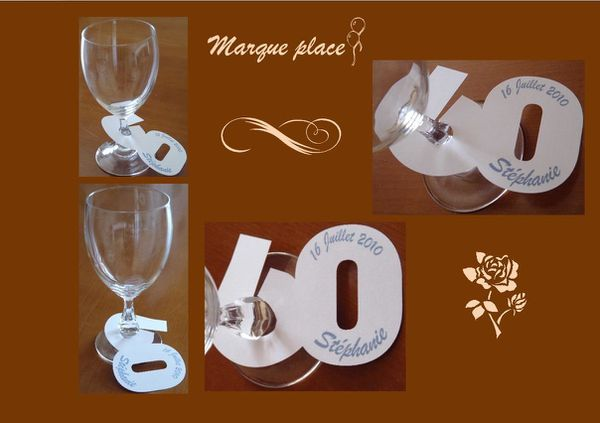 Fanny bricole d co de table stickers carterie mais - Marque place coeur pied de verre ...