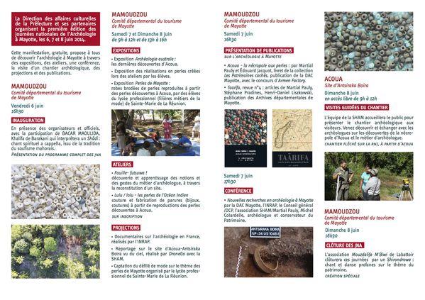 Programme JNA Mayotte 2014