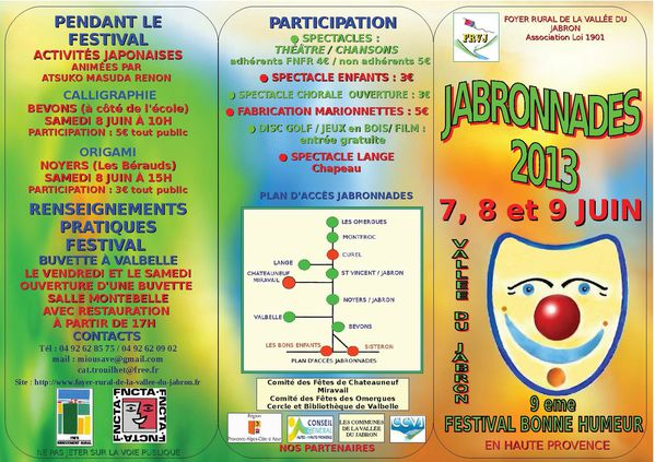 plaquette recto jabronnades 2013 FINAL