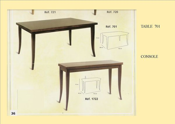 TABLE ET CONSOLE