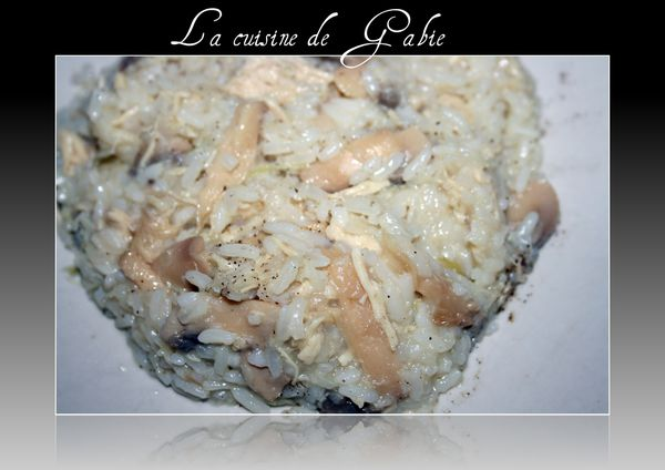 risotto au poulet poireaux et champignons thermomix. Black Bedroom Furniture Sets. Home Design Ideas