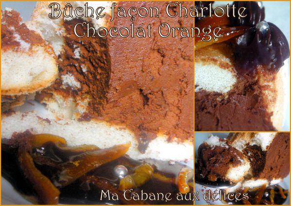 Buche façon charlotte chocolat orange photo 2