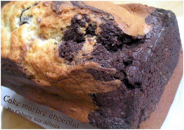 Gateau marbré chocolat photo 1
