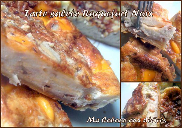 Tarte salée roquefort noix photo 2