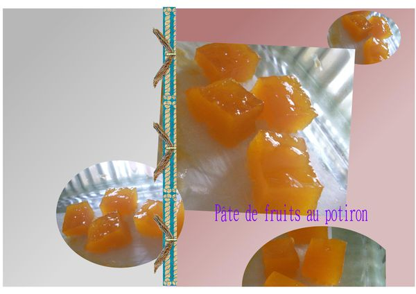 pâte de fruits au potiron