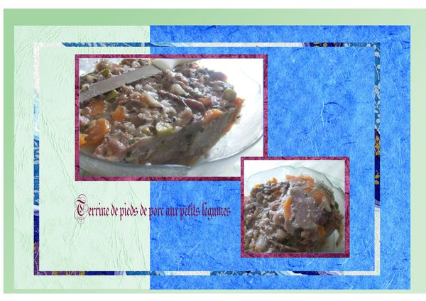 terrine de pied de porc aux petits légumes