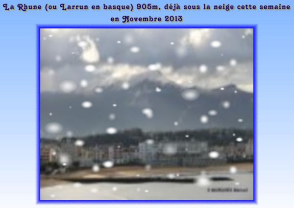 La Rhune sous la neige en Novembre 2013