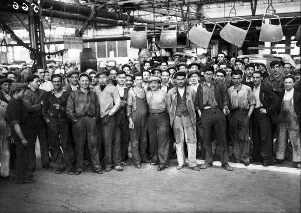 (Mai 1936. État français) Grève Générale à laquelle p