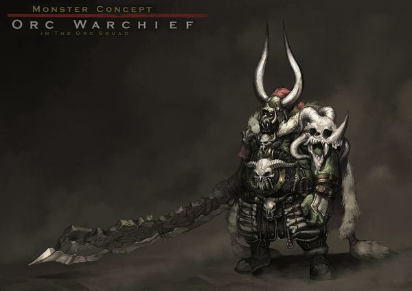 concept an orc warchief by reaper78-d3kyf6t