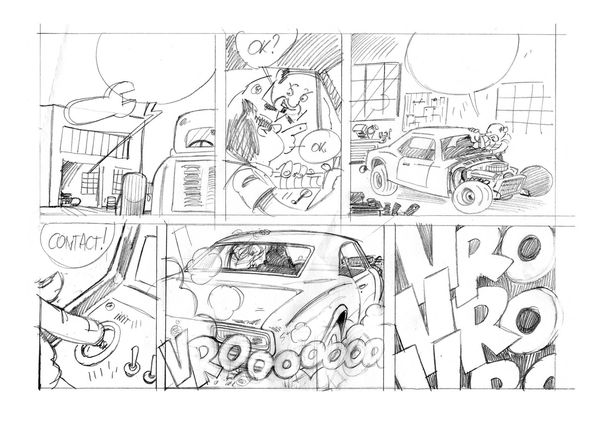 faux chassis montage crayon