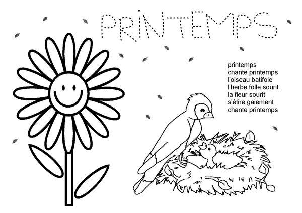 Coloriage De Printemps Maternelle.Coloriage Printemps Le Blog De Nounoucoindespetits