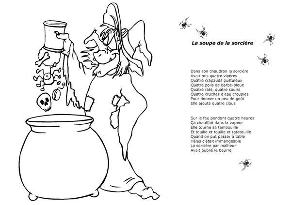 fiche comptine illustré la soupe à la sorcière valerieas