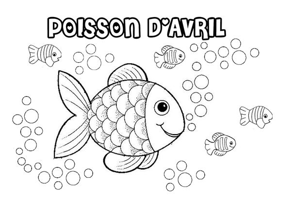 Coloriage poisson d 39 avril le blog de nounoucoindespetits - Coloriage avril ...