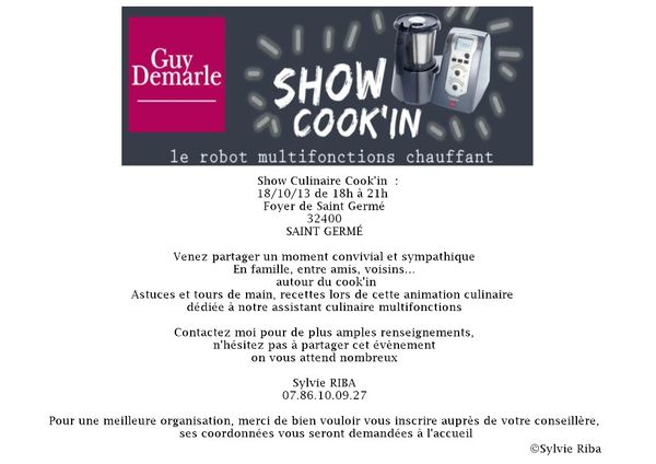 Show culinaire cook 39 in dans le gers quand ma plume for Article culinaire