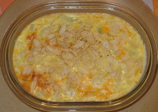 Clafoutis de chou fleur, mimolette, amandes2