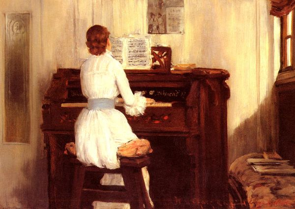 Chase William Merritt Mrs Meigs At The Piano Organ 1883