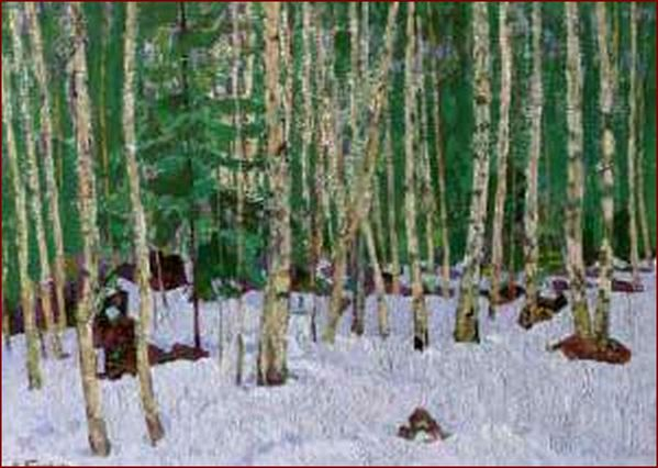 timkov_nikolai_efimovich-early_snow_in_the_forest.jpg