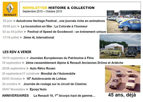 Renault Histoire & Collection. n°6