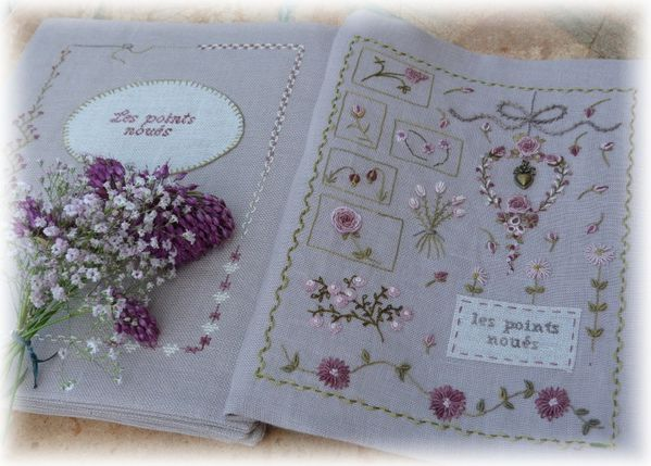 cahier broderie X 10 1