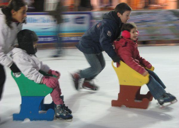 patinoire à Dreux déc 2011 course