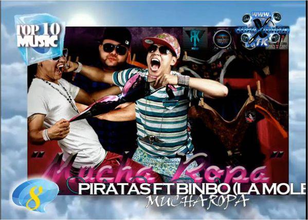 Piratas ft. Binbo - Mucha Ropa Top 10 Posicion 8