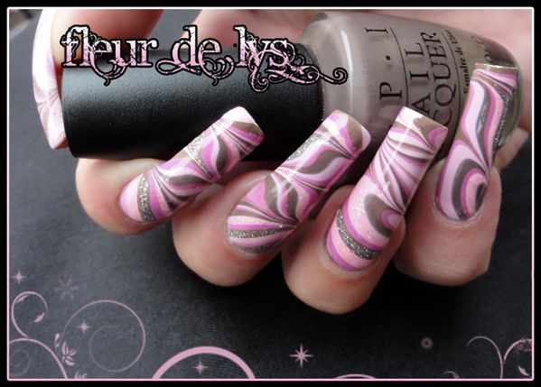 Water Marble rose taupe