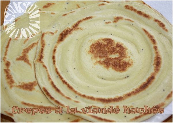 Crepes  la viande hache