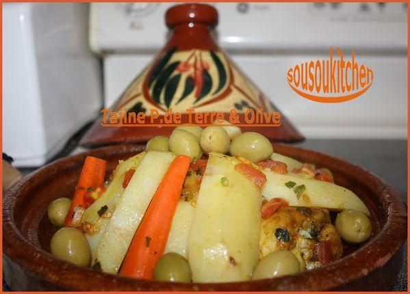 Tajine de Poulet - Pommes de Terre et Olives