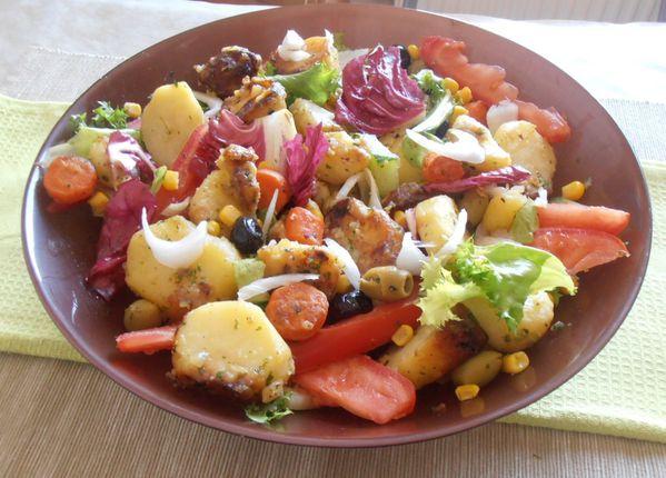 salade de pommes de terre saut es ma fa on le sucre sale d 39 oumsouhaib. Black Bedroom Furniture Sets. Home Design Ideas