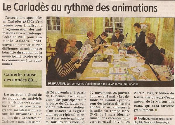L 39 asec sur le journal la montagne association des spectacle - Le journal la montagne ...