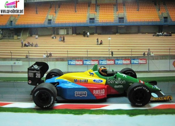 model car by benetton ford b191 roberto moreno 1991 diecast model car