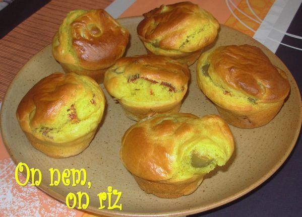 Muffins safranés aux tomates séchées1