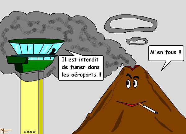 Le volcan fume