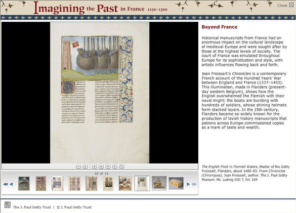 imagining the past in France 1250 - 1500 (Getty Center Exhi