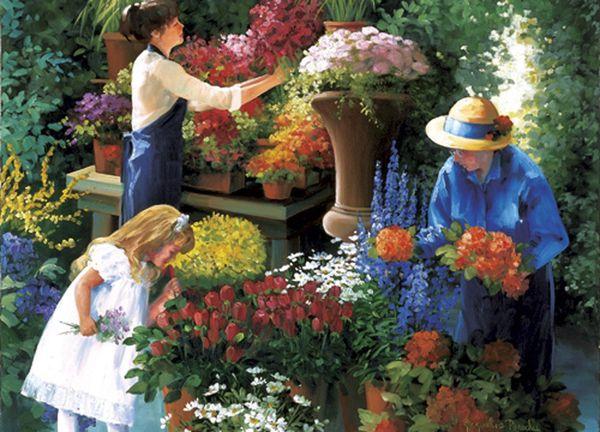 au jardin des fleurs
