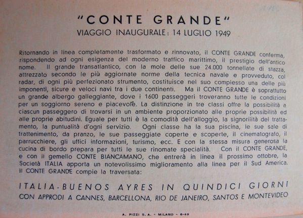 conte grande inaugurale 1949