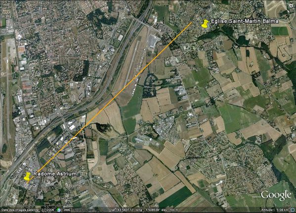 Quiz septembre 2011 - Google Earth - Radome Astrium - Balma