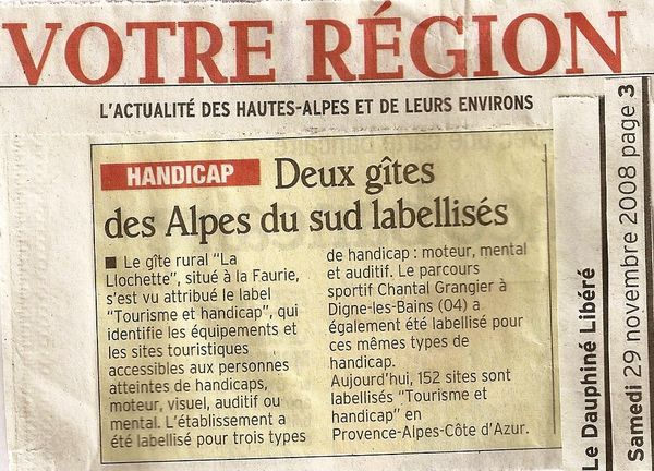 label gite article DL