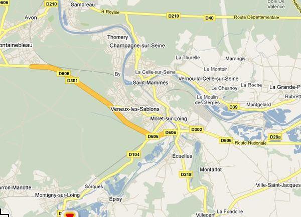 Carte région Ecuelles