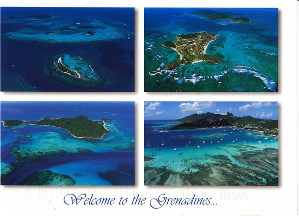 Carte postale des Grenadines