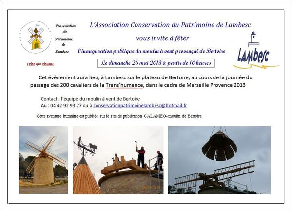Moulin Invitation pour l'inauguration
