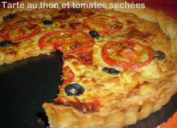 tarte au thon et tomates s ch es le blog cuisine de samar. Black Bedroom Furniture Sets. Home Design Ideas