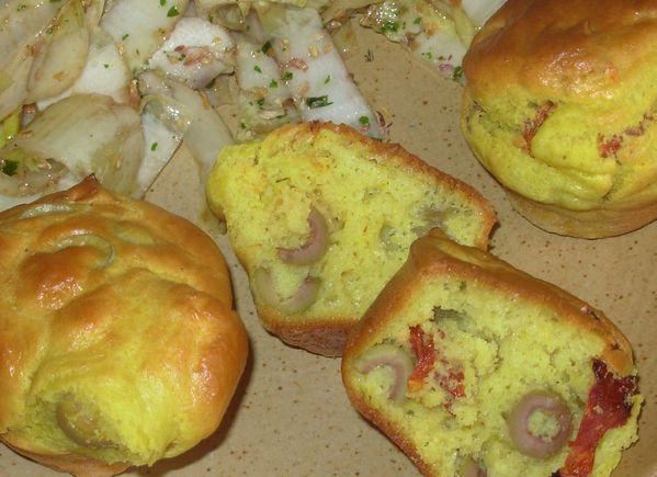 Muffins safranés aux tomates séchées5